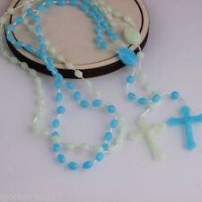 Classic Chain Light Green Glow In Dark Rosary Luminous Noctilucent Religious