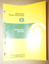 John Deere 1650 Series Drawn Chisel Plow Operators Manual Pn 101189