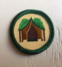 Retired Girl Scout 2001-2011 Junior CAMP TOGETHER BADGE Troop Camper Tent Patch