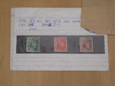 1936 King Edward Viii Inverted Watermark Set Sg 457Wi - 459Wi - cv £11