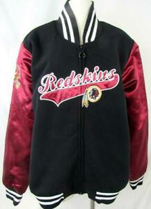 Washington Redskins Women 2XL Full Zip Jacket with Satin Look Sleeves ARDK 253
