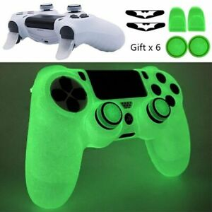 PS 4 Soft Silicone Controller Case Game Accessories Gamepad Joystick Cover Black