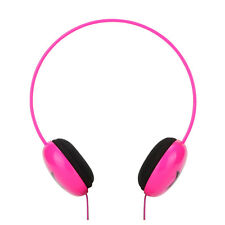 Over-ear Kids Childs Girls Star DJ Headphones iPod Touch Nano Shuffle Mp3 Pink
