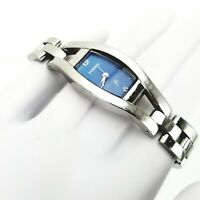 Fossil F2 ES-9387 Ladies Blue Dial Stainless Steel Cocktail Quartz Analog Watch
