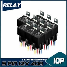 10pcs 12V  5Pin 40A SPDT DC Car Control Device relay  Harness Socket