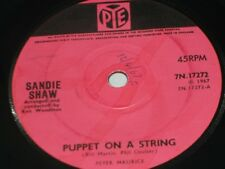 "Sandie Shaw:  Puppet on a String   orig 1967   7""  EX (writing on label)"
