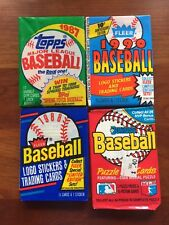 ESTATE LOT OF 325 OLD UNOPENED BASEBALL CARDS IN PACKS 1990 AND EARLIER