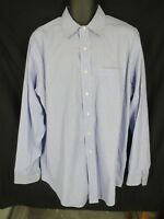 Brooks Brothers Mens Size 17-36 Traditional Fit Blue Non-Iron Dress Shirt