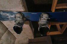 Definitive 150 snowboard along with boots and bindings practically brand new