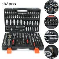193pcs/set Socket Screwdriver Bit Torx Ratchet Case For Car Repairing Tool Kit