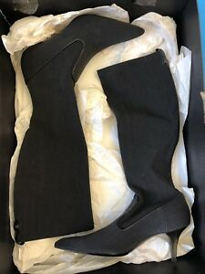 New COLE HAAN Boots Womens 6.5 B Black Charcoal Nanette Tall