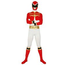 Power Rangers Megaforce Costume Adult Superhero Halloween Warrior Cosplay Zentai