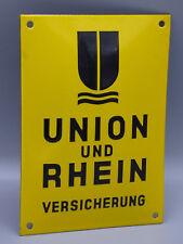 "Vintage German Porcelain ""Union und Rhein"" Fire Insurance Sign/ Wall Plaque"