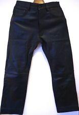 beau Pantalon homme en cuir OAKWOOD taille S 38 agneau L=100cms coupe droite