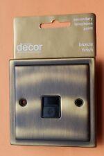 5 x Homebase Cast Secondary Telephone Socket Bronze (Antique Stepped edge brass)