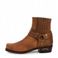 SENDRA 2746 Men's Cowboy Boots Sprinter Tang Leather Western Ankle Biker Shoes