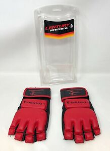 Century MMA Kickboxing Bag Gloves Mixed Martial Arts Red Black S/M
