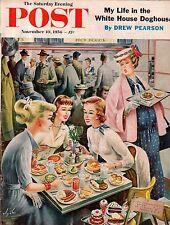 1956 Saturday Evening Post November 10 - Fort Atkinson WI; Postmen perils; WVA