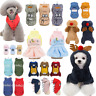 Pet Xmas Clothing Warm Coat Dog Cat Hoodie Puppy Cotton Jumpsuit Costume Winter