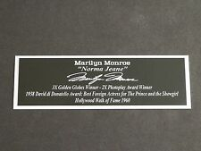 Marilyn Monroe Nameplate Norma Jeane Actress Autograph Photo Singer Jersey
