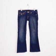 $216 True Religion Dark Joey Twisted Seam Leg Flap Pocket Stretch Jeans 27 27.5