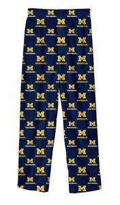New NWT Michigan Wolverines Pajama Pjs Pants Youth Boys Size 14/16