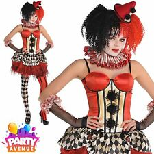 Womens Halloween Circus Clown Separates Costume Carnival Fancy Dress