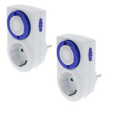 2 x Analog Day - Timer Mechanical 002 with child Protection 230V 16A Switch