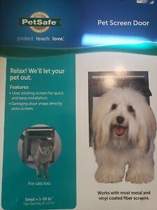 "PetSafe Pet Screen Door Small Dog, Cat 1-30 lb Opening 8""x 9 1/4"" Easy Install"