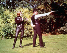 THE AVENGERS HONOR BLACKMAN IN LEATHER PATRICK MACNEE