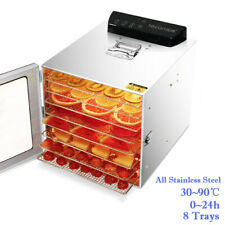 Food Dehydrator 8 Tray(304 Stainless Steel) Food Preserver Fruit Meat Dryer 450W