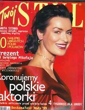 DANUTA STENKA Polish Twoj Styl Magazine 12/99 CATE BLANCHETT TINA TURNER