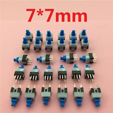 30pcs/lot Square 7x7x12mm 6 Pin DPDT Mini Push Button Self-locking Switch G64
