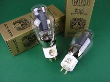 2 x 300B EH GOLD Trioden neu - factory matched pair -> tube amp Röhrenverstärker
