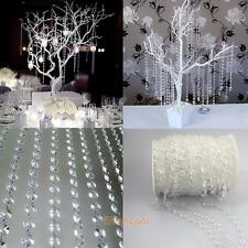 33FT Garland Diamond Acrylic Crystal Bead String Curtain Wedding DIY Party Decor