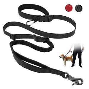 6 Way Heavy Duty Multifunctional Dog Leash w/ Car Seat Belt Carabiner Hands Free