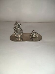 golf 19th Hole Paper Weight/Letter Stainless Steel Holder