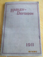 VERY RARE 1911 Harley Davidson Motorcycle Sales Brochure Reproduction