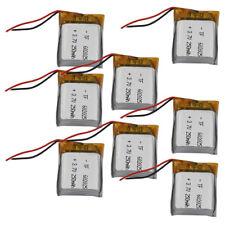 8 pcs 3.7V 250 mAh Polymer Li battery lipo For smart watches Headset GPS 602025