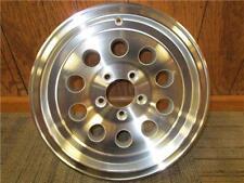 "15"" x 6"" 5 Lug Golf Ball Hole Modiular Aluminum Trailer Wheel #A15510M RV Boat"