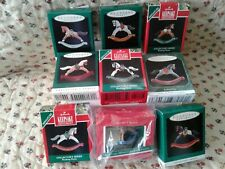 Hallmark Miniature Ornaments Rocking Horses 9 Out Of 10 Almost Complete New Mib