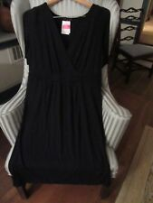 NWT FRESH PRODUCE FLUTTER STYLE DRESS IN SOLID BLACK ...FLATTERING RET $89  (L)