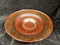 Vintage Iridescent Madrid Depression Glass Low Console Bowl USA