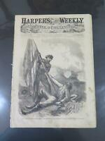 CIVIL WAR HARPER'S WEEKLY JOURNAL NEWSPAPER 1864 DAVIS BATTLE OF EZRA LINCOLN⭐🌈