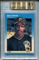 1987 Fleer Glossy Baseball #604 Barry Bonds Rookie Card Graded BGS Gem Mint 9.5