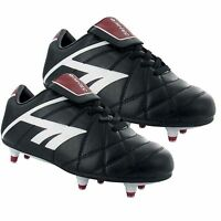 MENS BLACK ASTRO TURF TRAINERS CASUAL LACE UP SPORTS SHOES FOOTBALL STUDS BOOTS