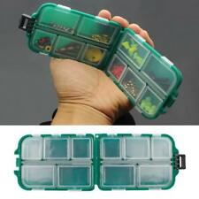1PC Mini 10Compartments Fishing Lure Spoon Hook Rig Bait Storage Case Tackle Box