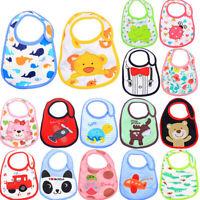 Baby Bibs Cotton Cute Cartoon Pattern Toddler Baby Waterproof Saliva Tow WG