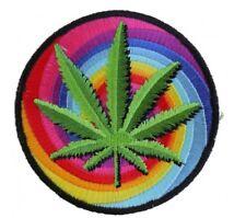 Sweet Leaf Marijuana Leaf Patch Embroidered Iron On Biker Skater Stoner Ganja