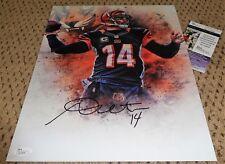 Andy Dalton Signed 11X14 Photo Cincinnati Bengals Football Jsa Auth Auto